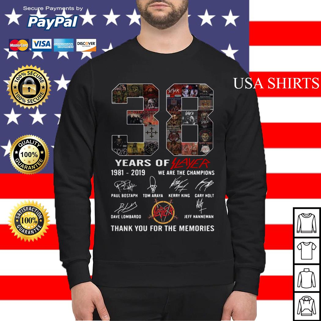 38 years of player 1981 2019 we are the champions thank you for the memories Sweater
