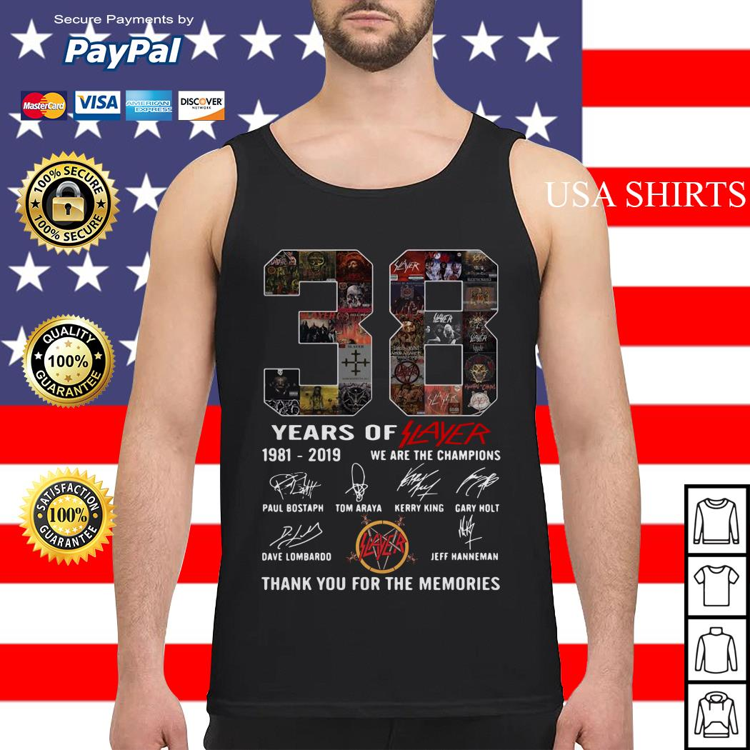 38 years of player 1981 2019 we are the champions thank you for the memories Tank top