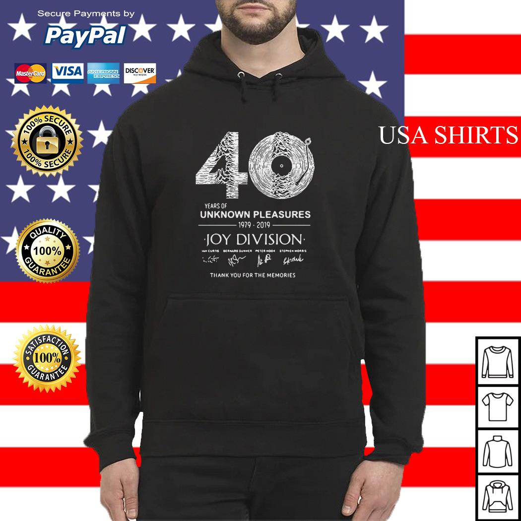 40 years of Unknown Pleasures 1979-2019 Joy Division signatures Hoodie