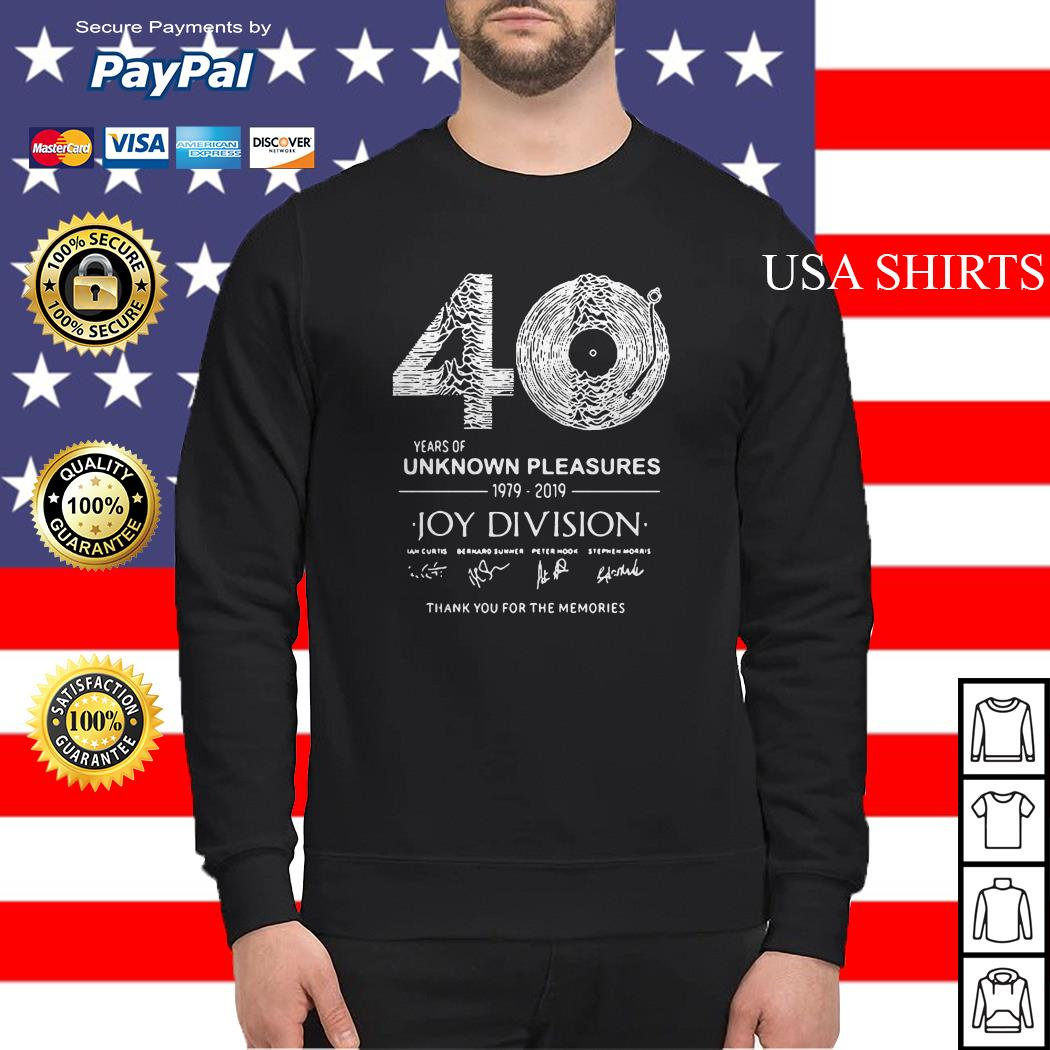 40 years of Unknown Pleasures 1979-2019 Joy Division signatures Sweater