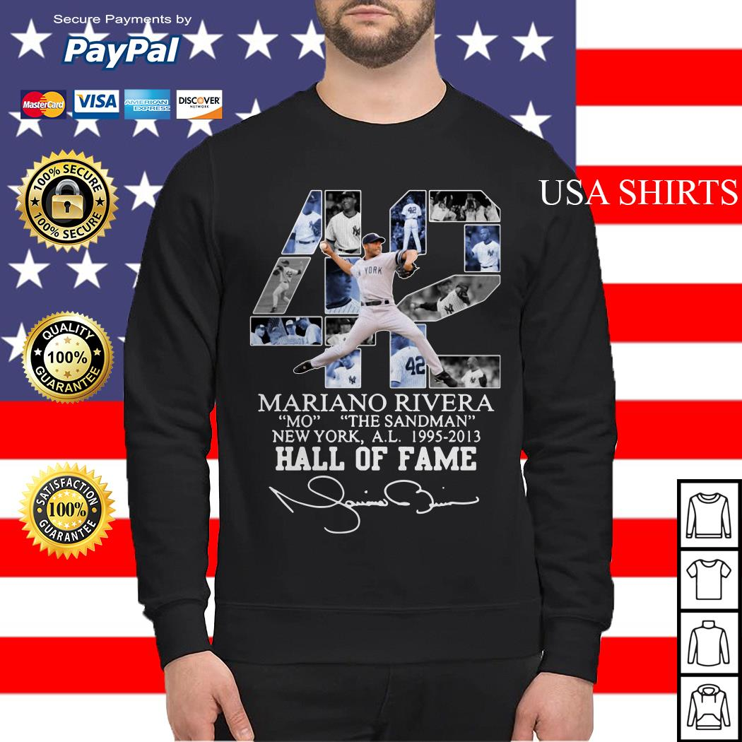 42 Mariano Rivera Mo the Sandman New York a.l 1995 2013 Hall of fame Sweater