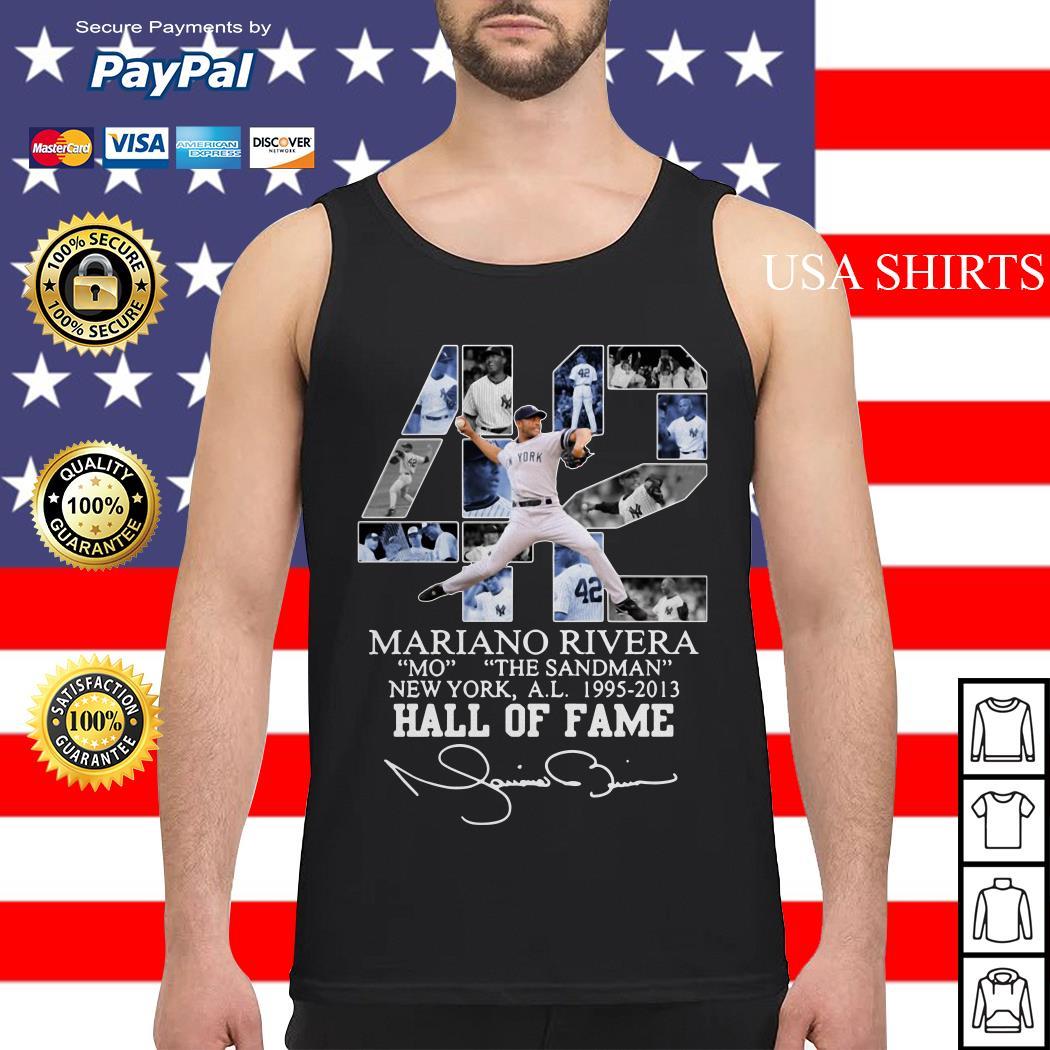 42 Mariano Rivera Mo the Sandman New York a.l 1995 2013 Hall of fame Tank top