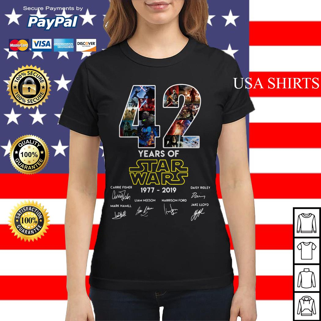 42 Years of Star Wars 1977-2019 signature Ladies tee