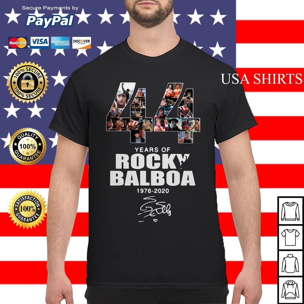 44 years of Rocky Balboa 1976 2020 signature shirt