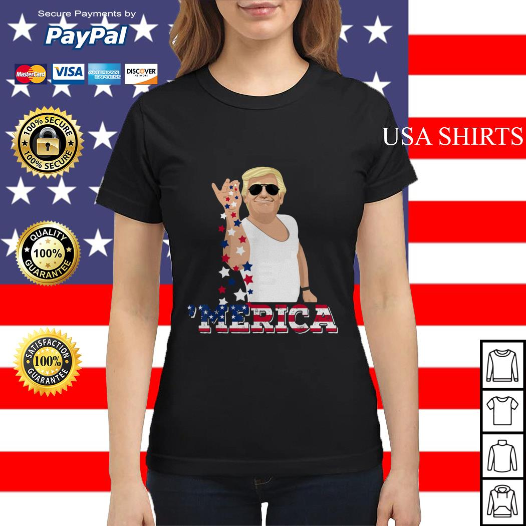 4th of July Trump salt America Ladies tee