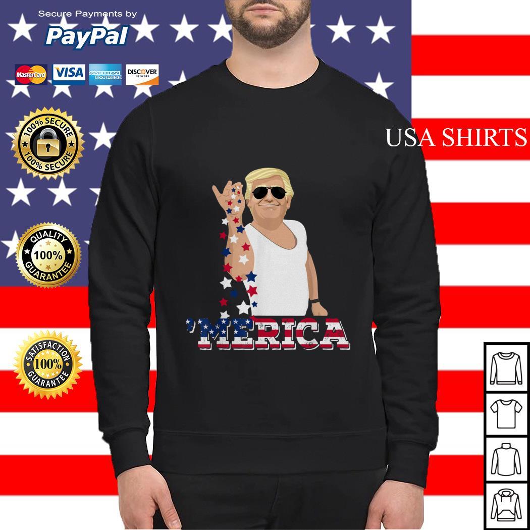 4th of July Trump salt America Sweater