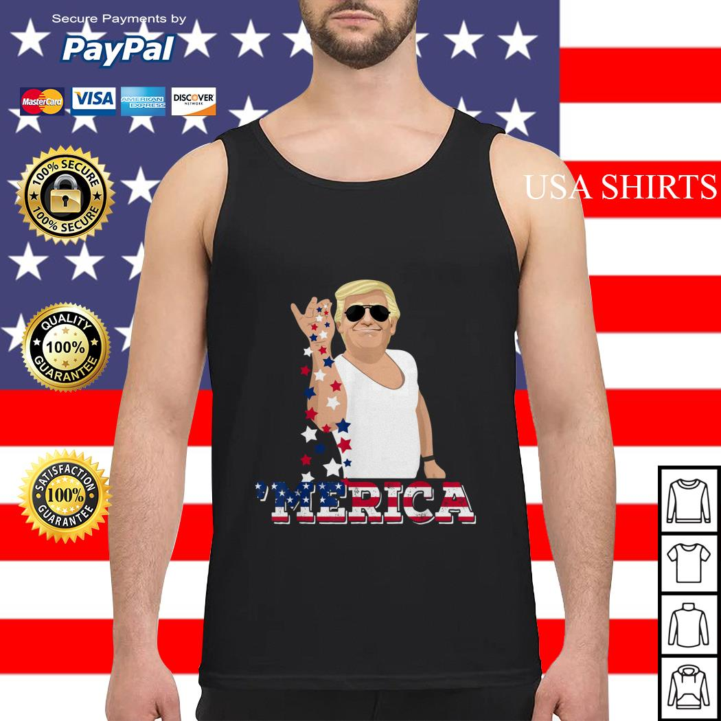 4th of July Trump salt America Tank top
