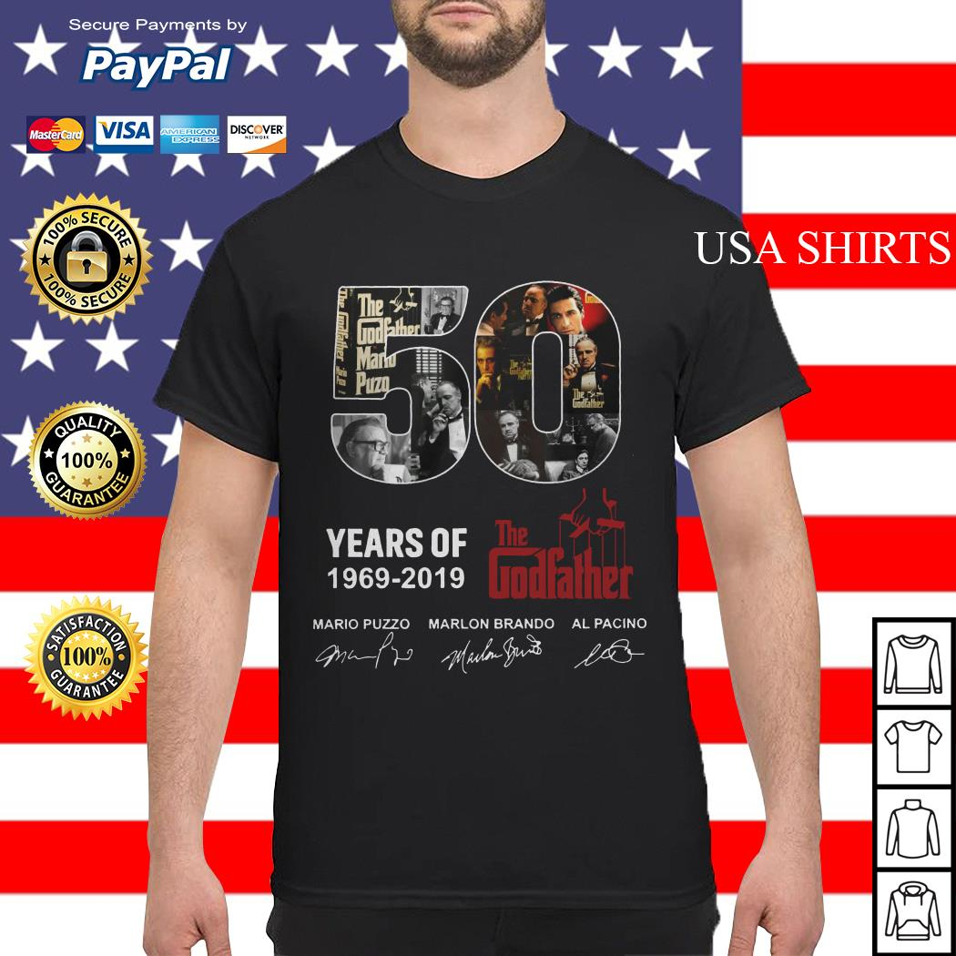 50 years of The Godfather 1969 2019 signature shirt