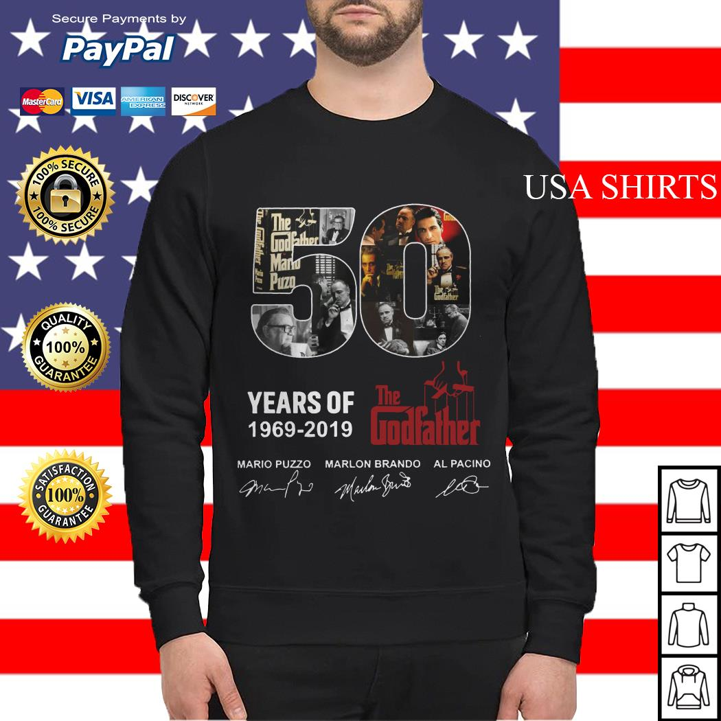 50 years of The Godfather 1969 2019 signature Sweater