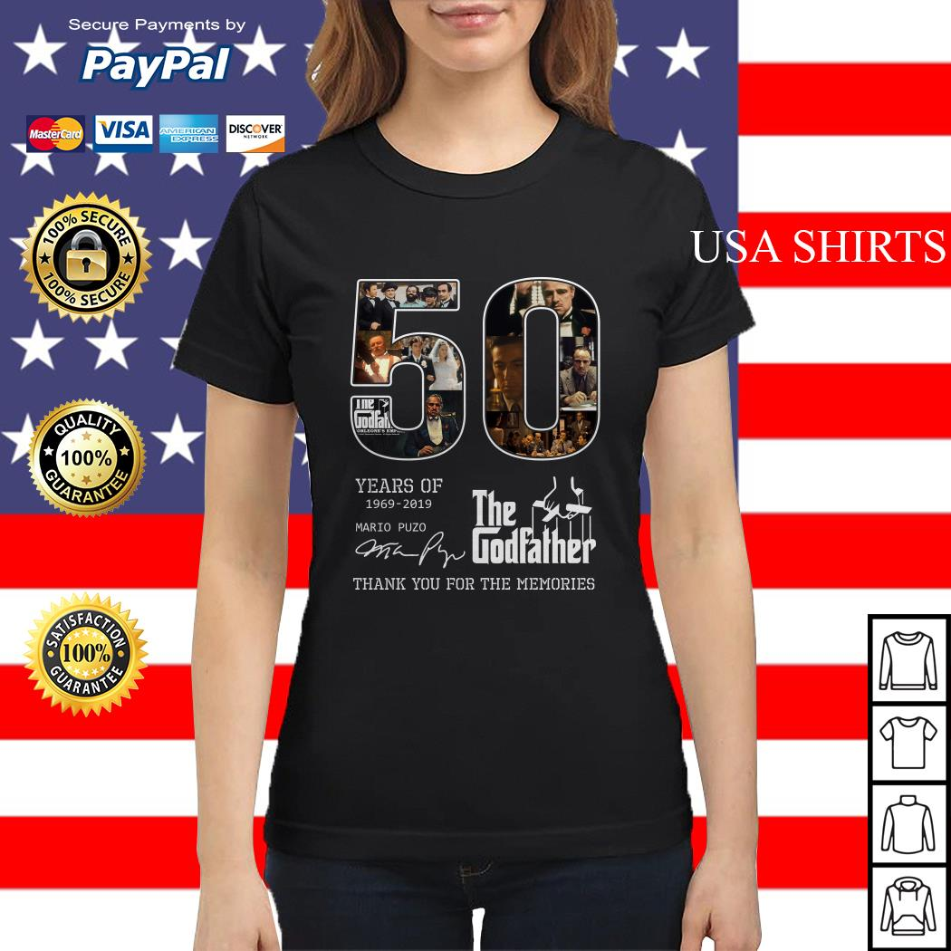 50 years of 1969 2019 The Godfather thank you for the memories Ladies tee