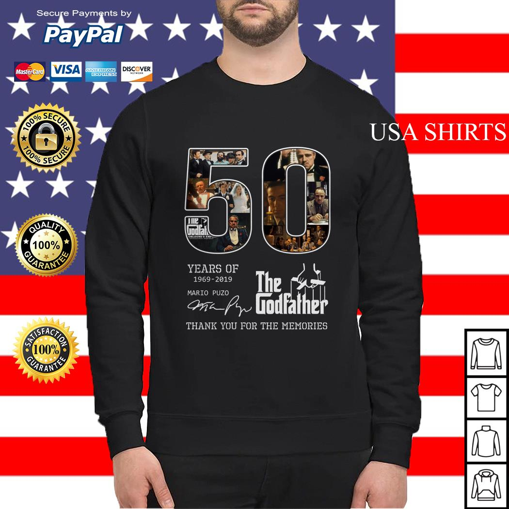 50 years of 1969 2019 The Godfather thank you for the memories Sweater