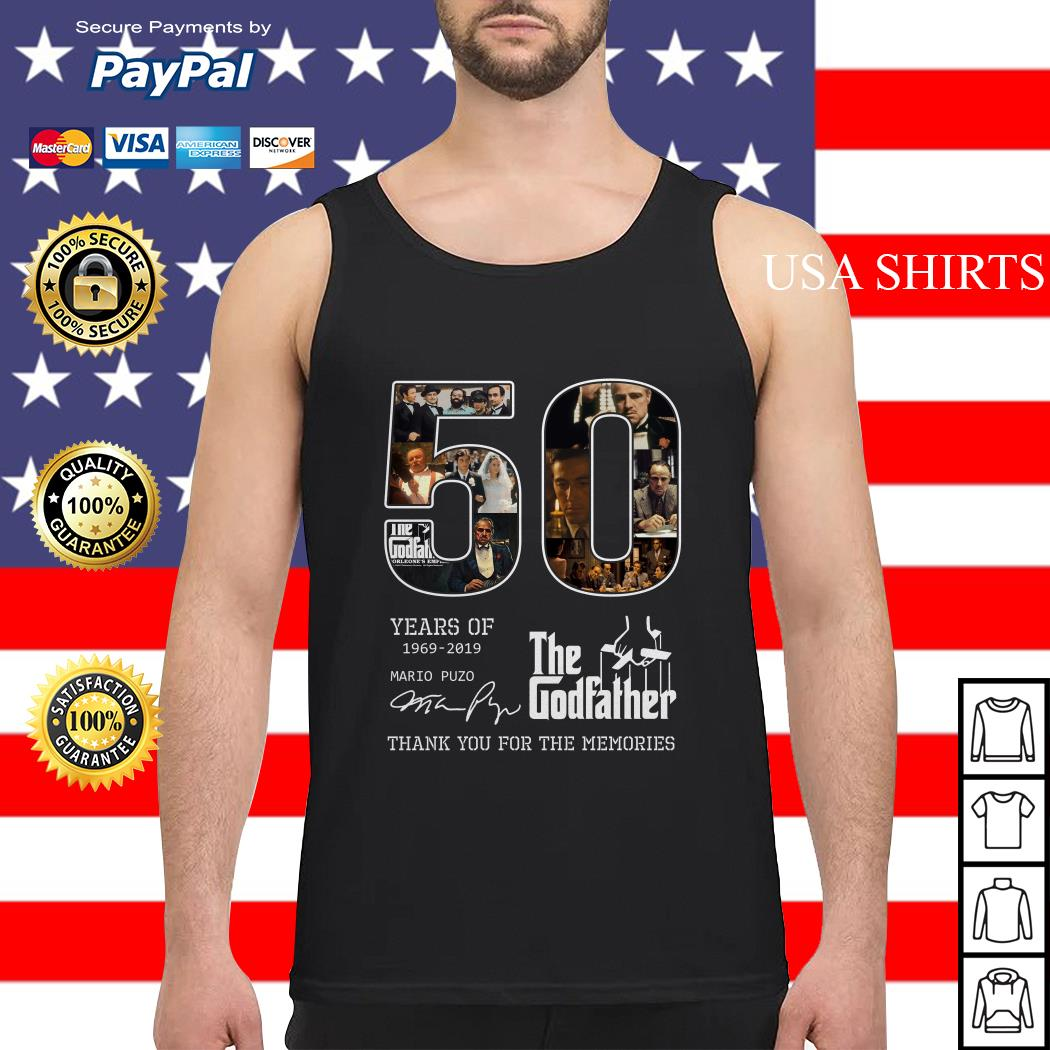 50 years of 1969 2019 The Godfather thank you for the memories Tank top