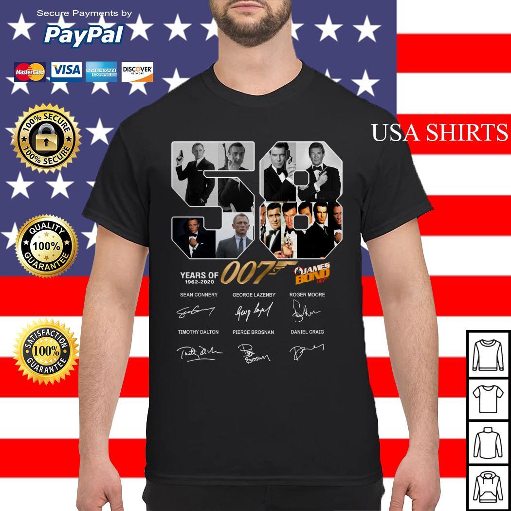 58 years of James Bond 007 2020 signature shirt