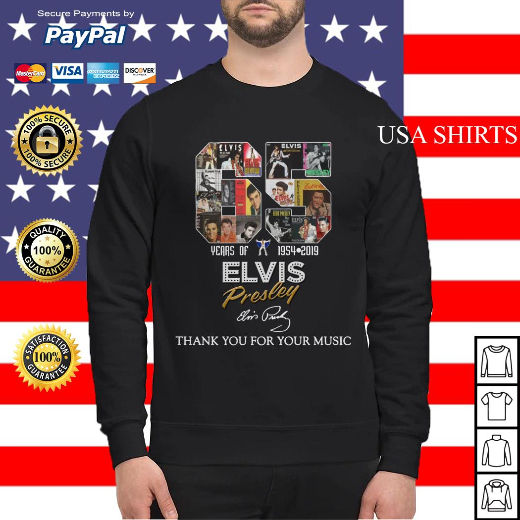 65 years of Elvis Presley thank you for your music Sweater