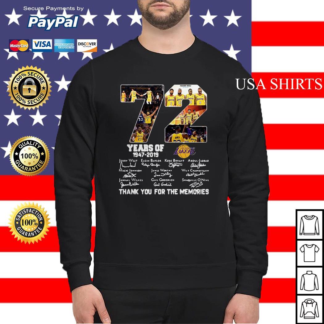 72 years of Lakers anniversary Sweater