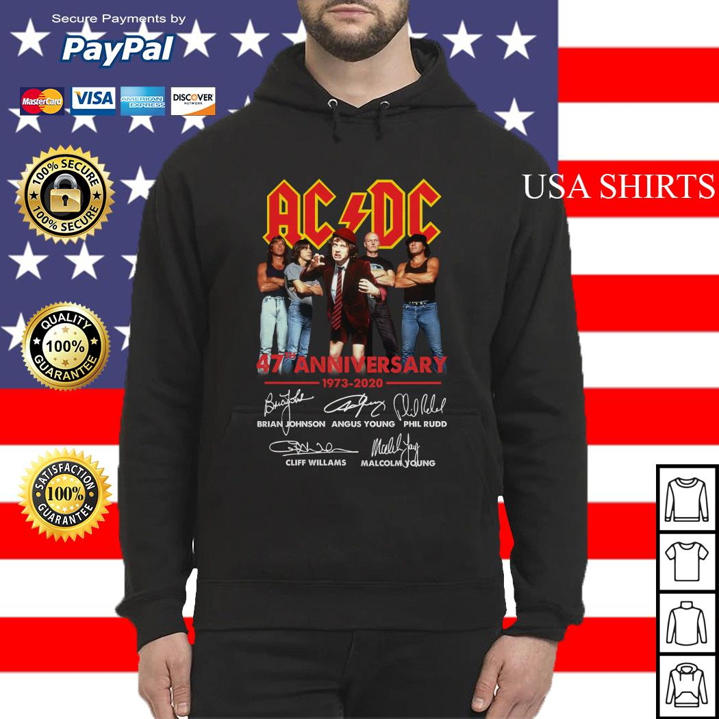 ACDC 47th Anniversary 1973 2020 signatures Hoodie