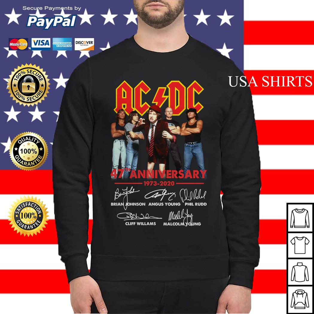 ACDC 47th Anniversary 1973 2020 signatures Sweater