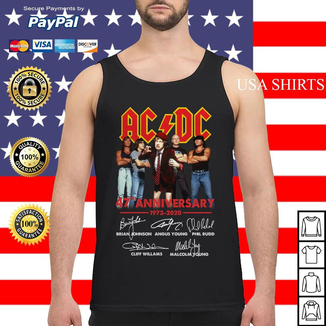 ACDC 47th Anniversary 1973 2020 signatures Tank top