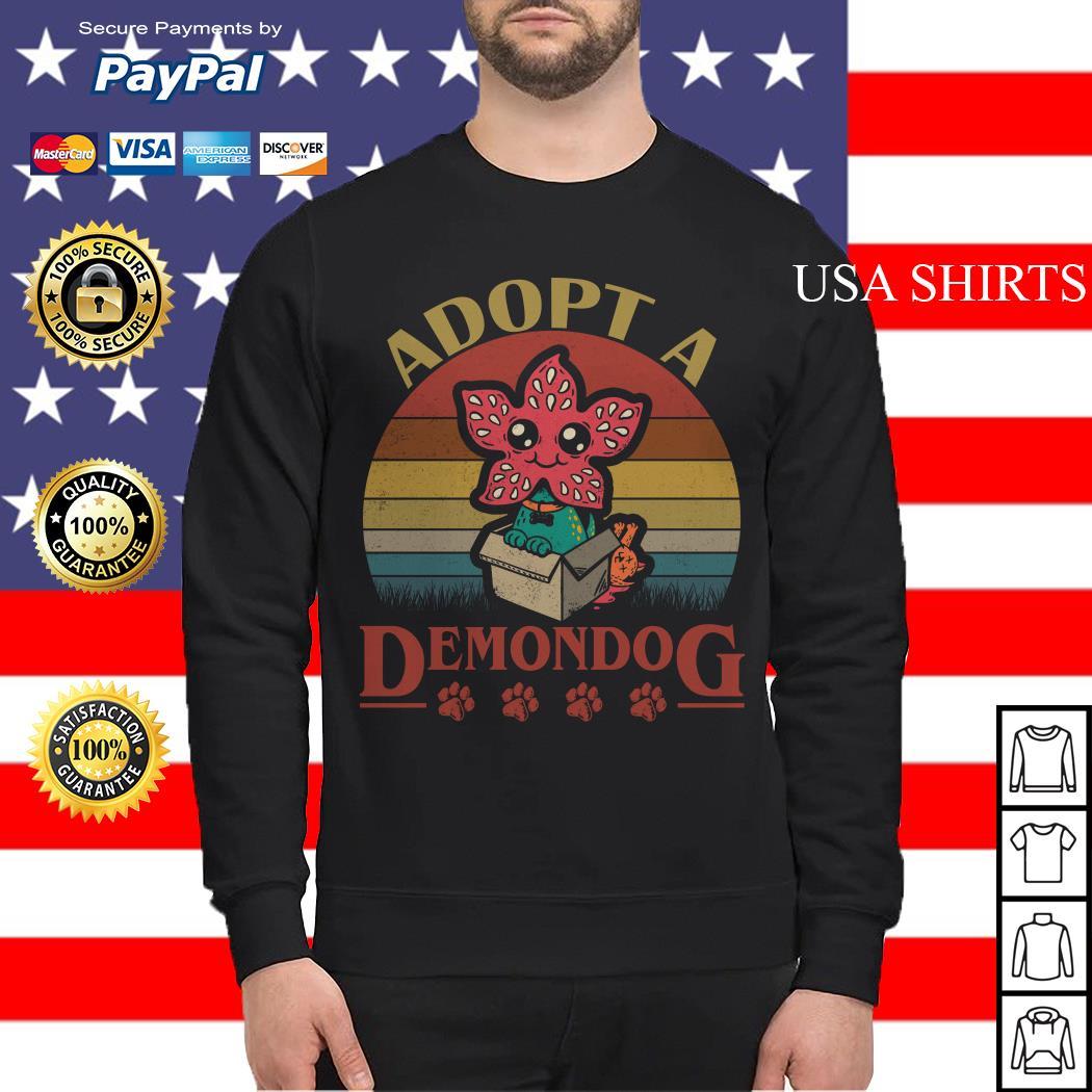 Adopt a Demondog Stranger Things vintage Sweater