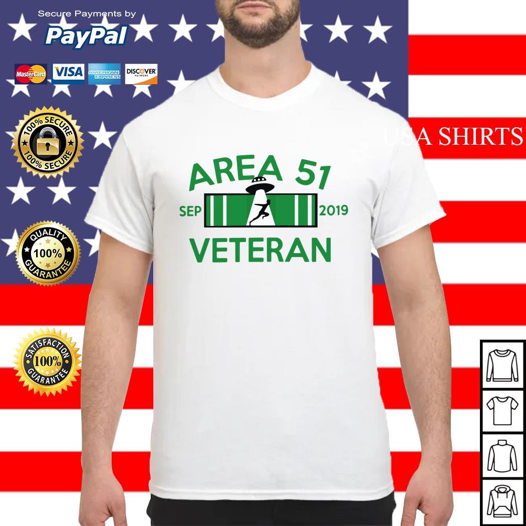 Area 51 Veteran Sep 2019 UFO shirt