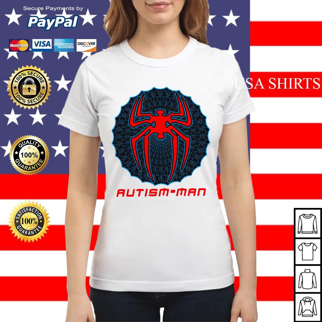 Autism man Spider man Ladies tee
