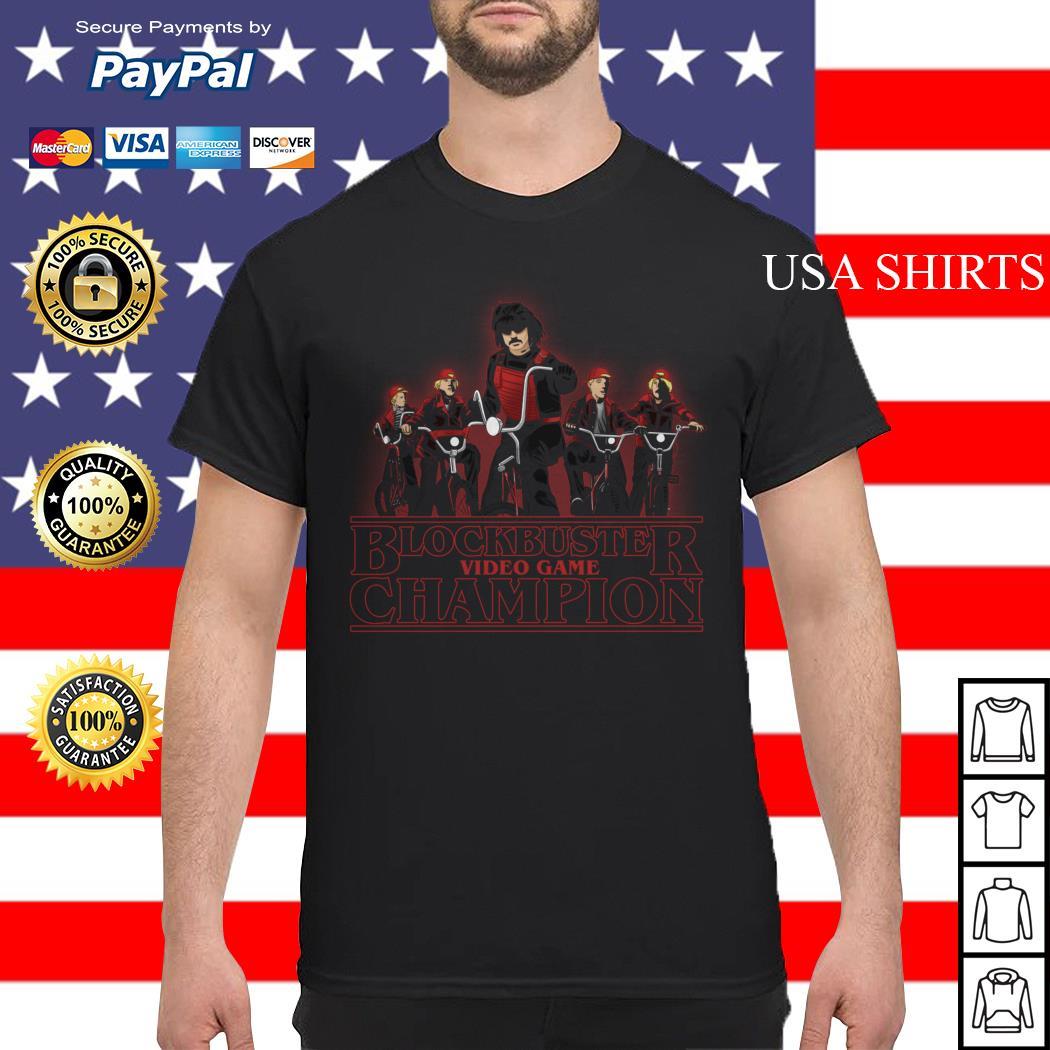 Blockbuster video game champion Stranger Things shirt
