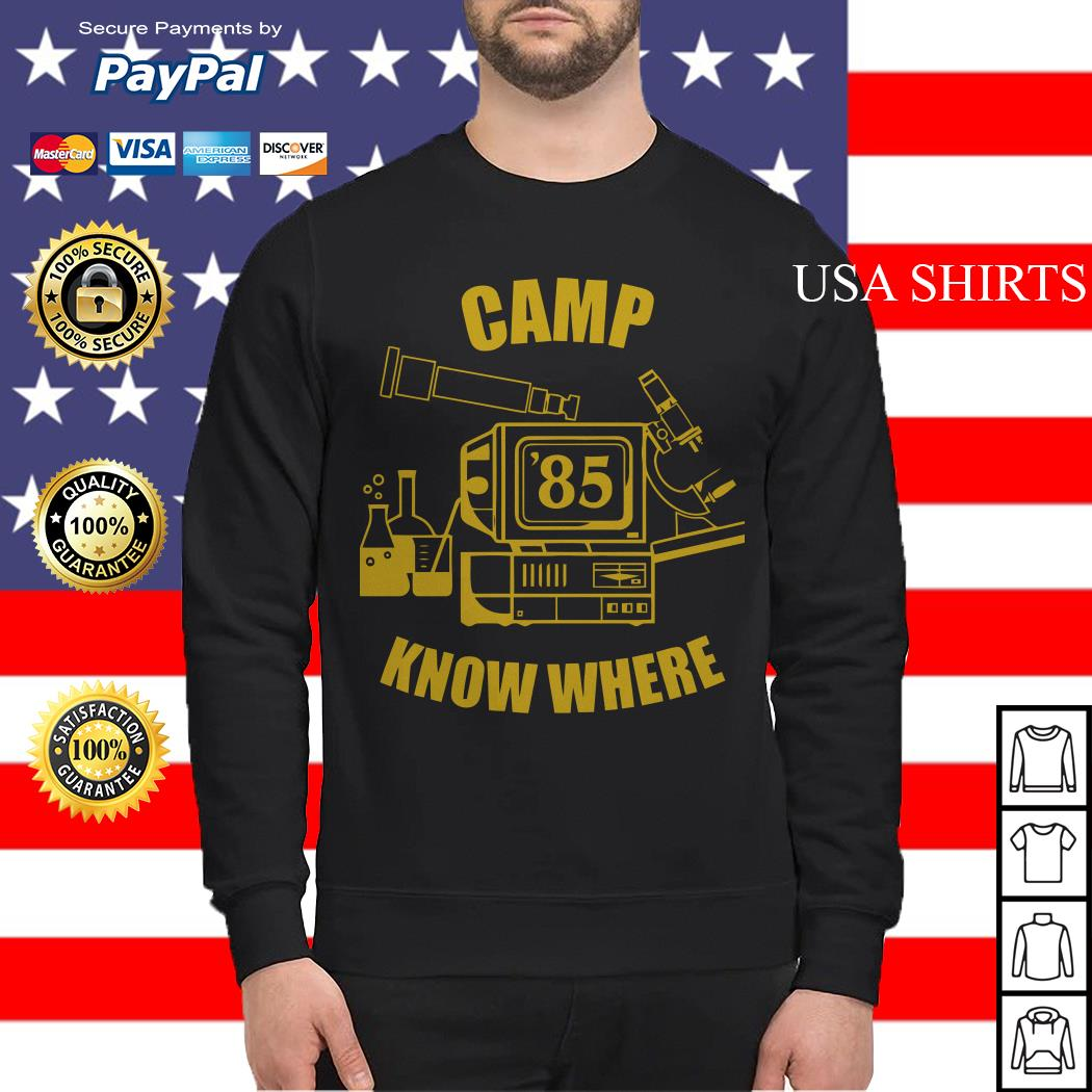 Camp 85 know where Sweater