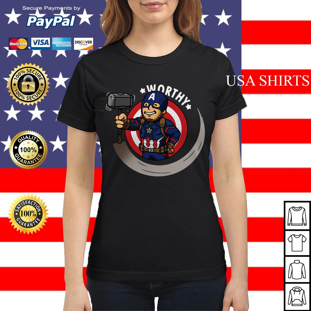 Captain America worthy Ladies tee