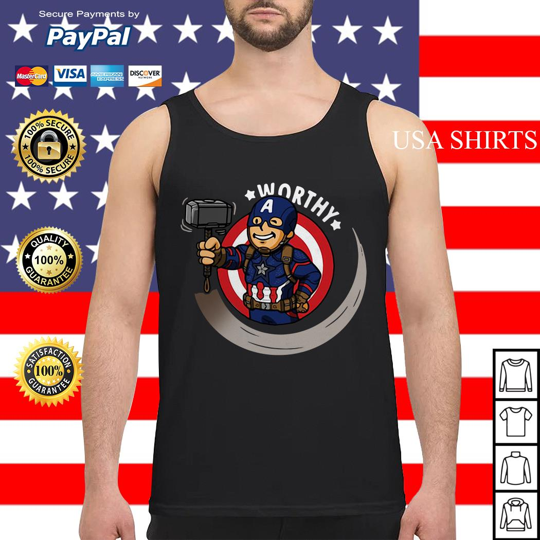 Captain America worthy Tank top