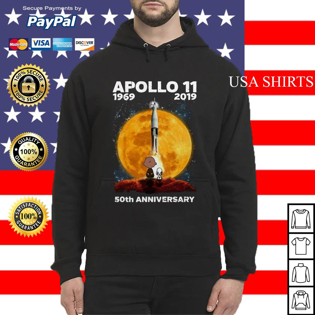 Charlie And Snoopy Apollo 11 1969 2019 50th Anniversary Hoodie