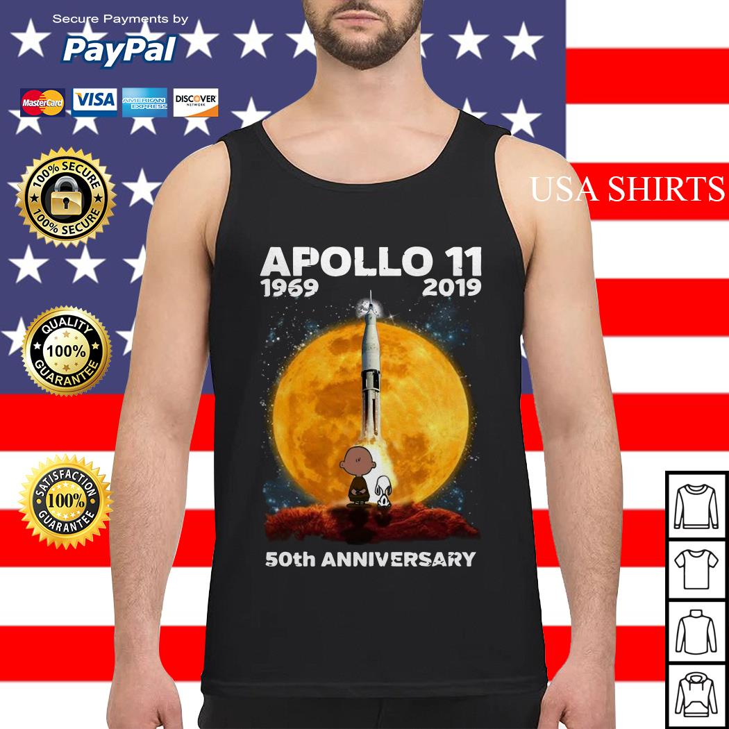 Charlie And Snoopy Apollo 11 1969 2019 50th Anniversary Tank top