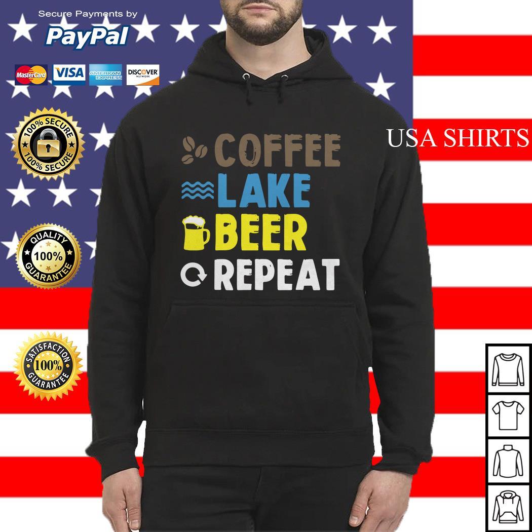 Coffee lake beer repeat Hoodie