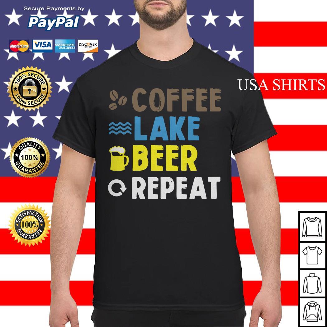 Coffee lake beer repeat shirt