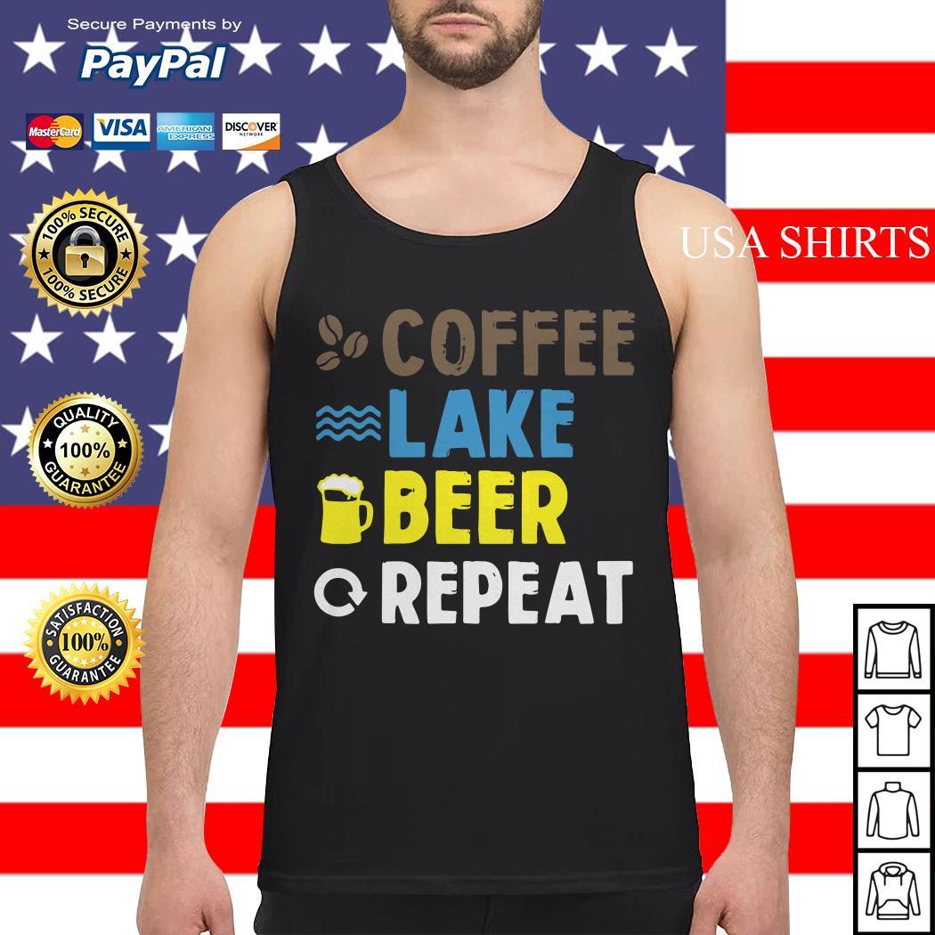 Coffee lake beer repeat Tank top