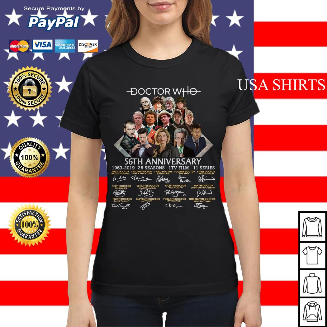 Doctor Who 56th anniversary signature Ladies tee