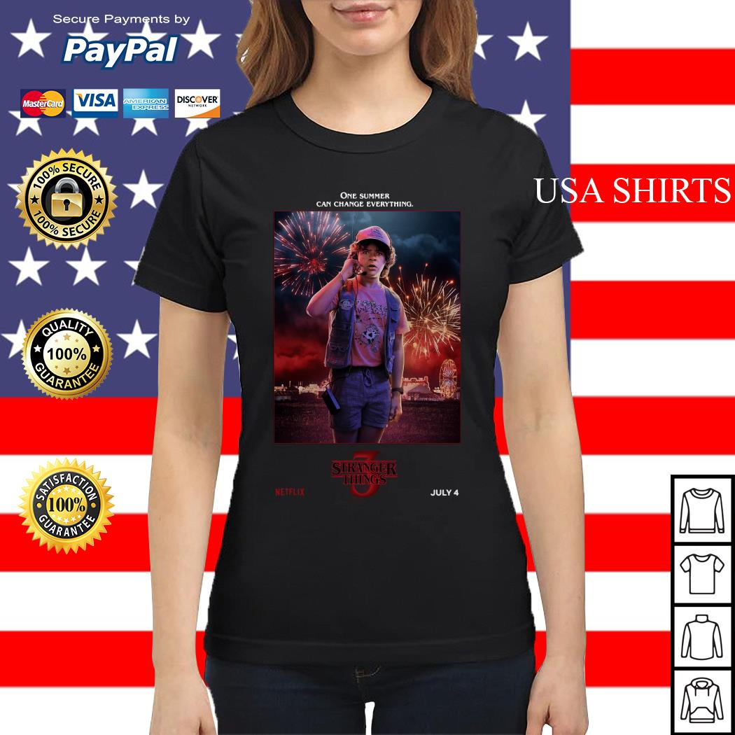 Dustin Henderson One Summer Can Change Everything Stranger Things Ladies tee