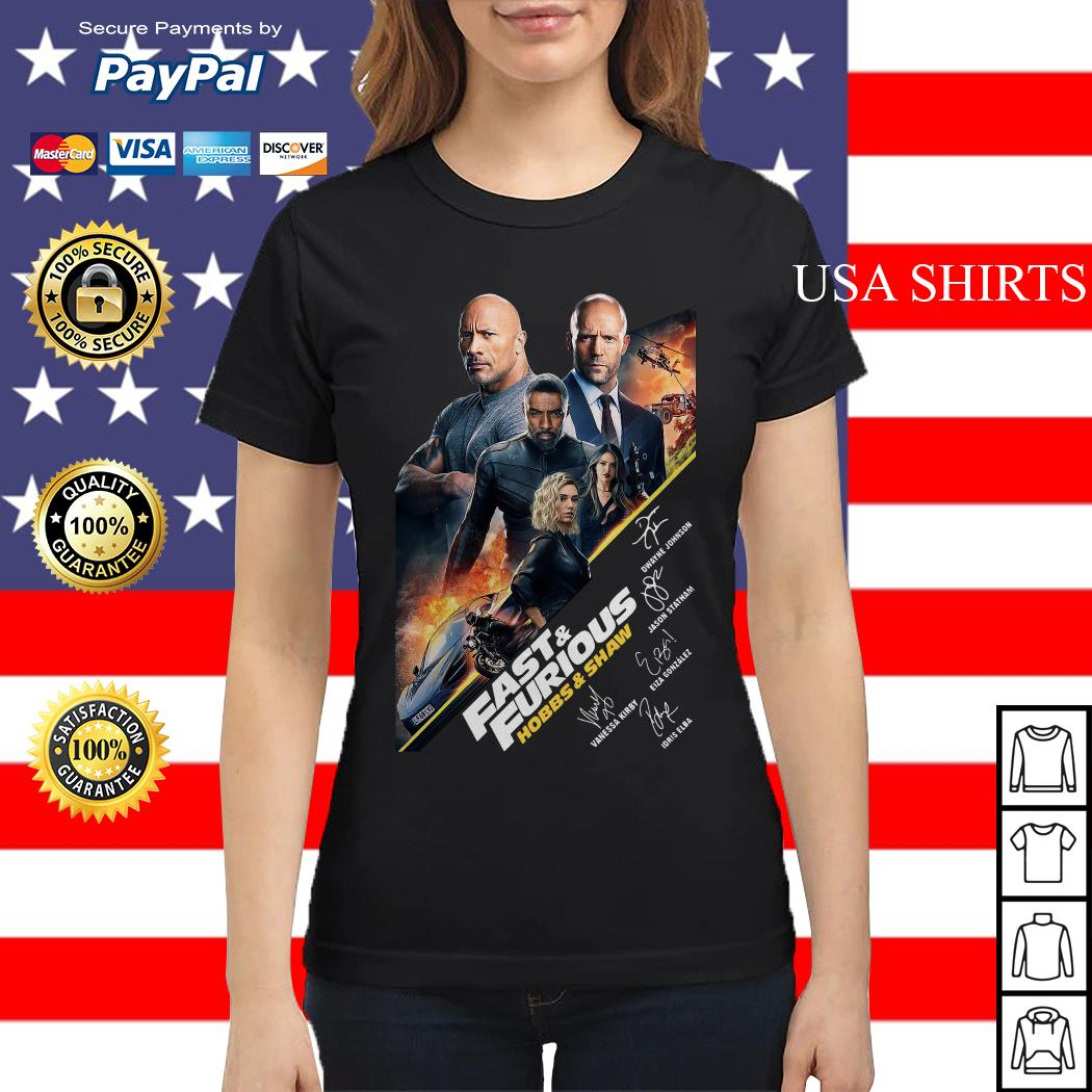 Fast and Furious Hobbs and shaw signature Ladies tee