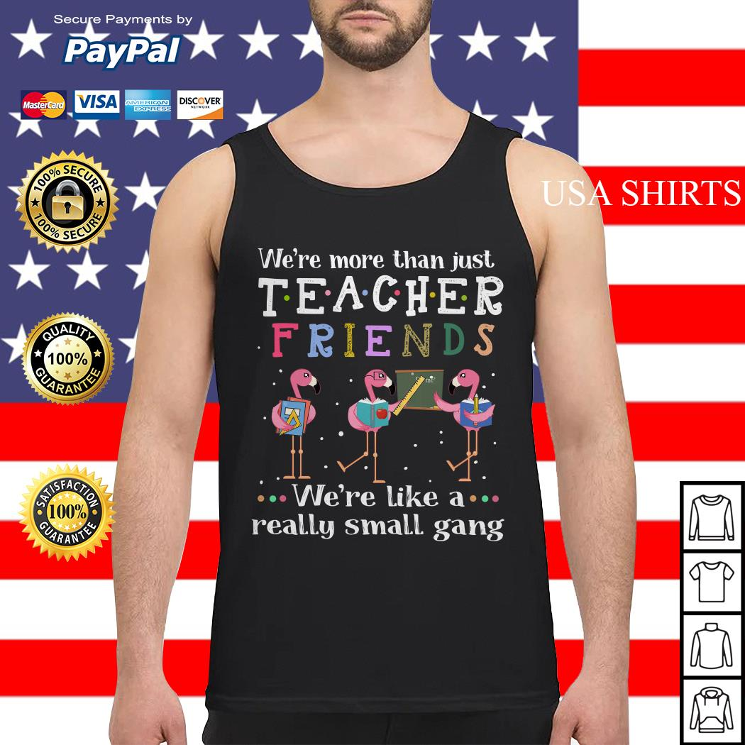 Flamingos we're more than just teacher friends Tank top