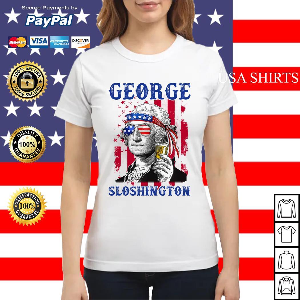 George Sloshington 4th of July Ladies tee