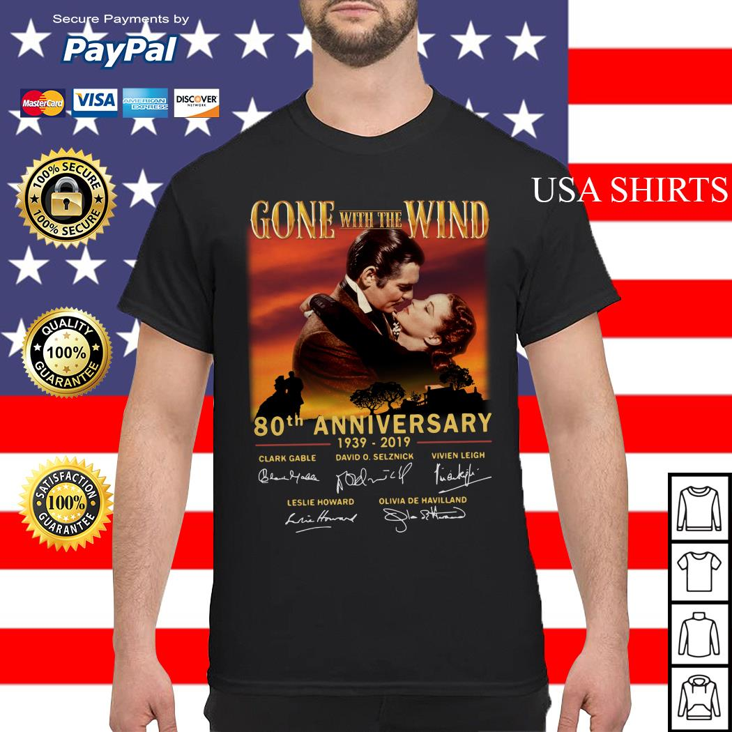 Gone With The Wind 80th Anniversary 1939-2019 signatures shirt
