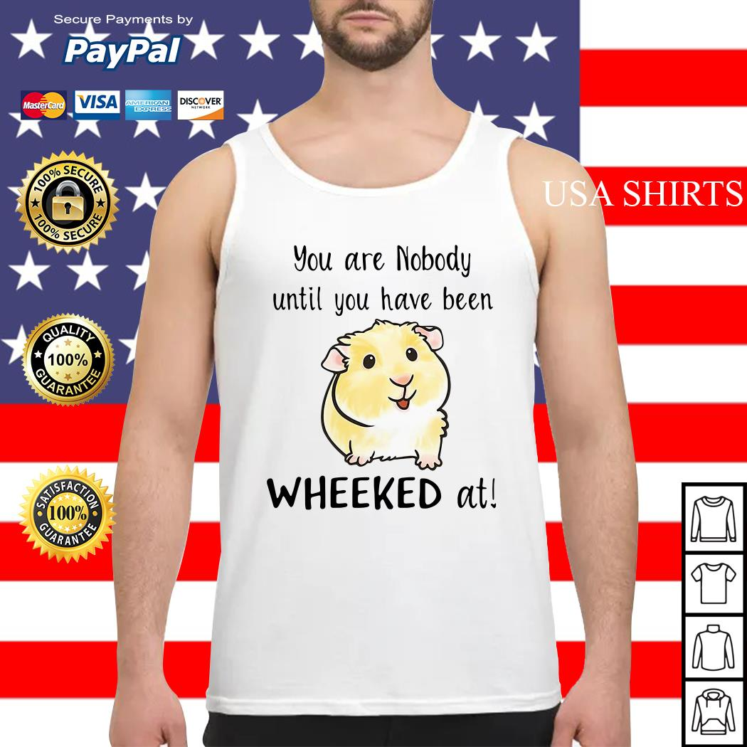 Hamster you are nobody until you have been wheeked at Tank top