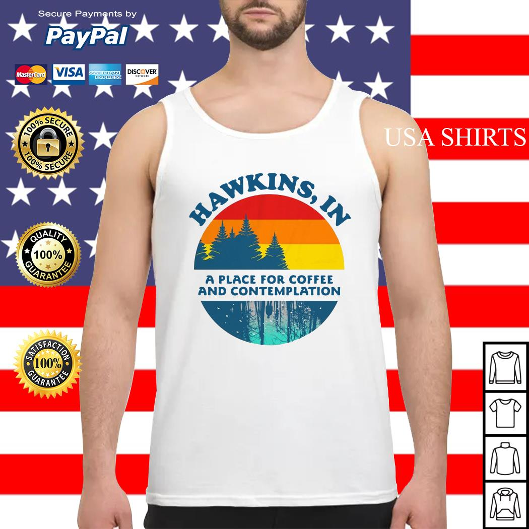 Hawkins in a place for coffee and contemplation Tank top