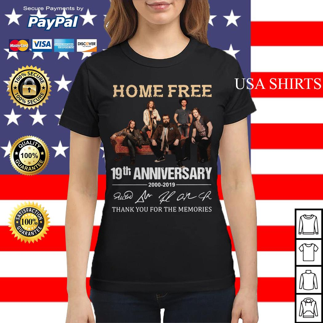Home Free 19th Anniversary thank you for the memories Ladies tee