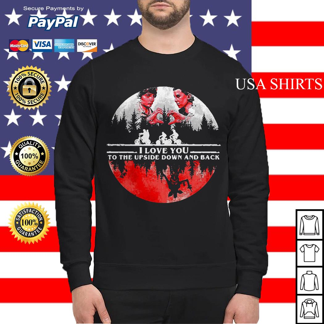 I love you to the upside down and back Stranger Things Sweater