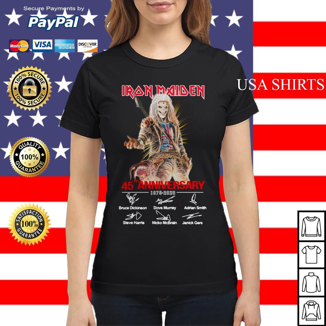 Iron Maiden 45th Anniversary 1975 2020 signature Ladies tee