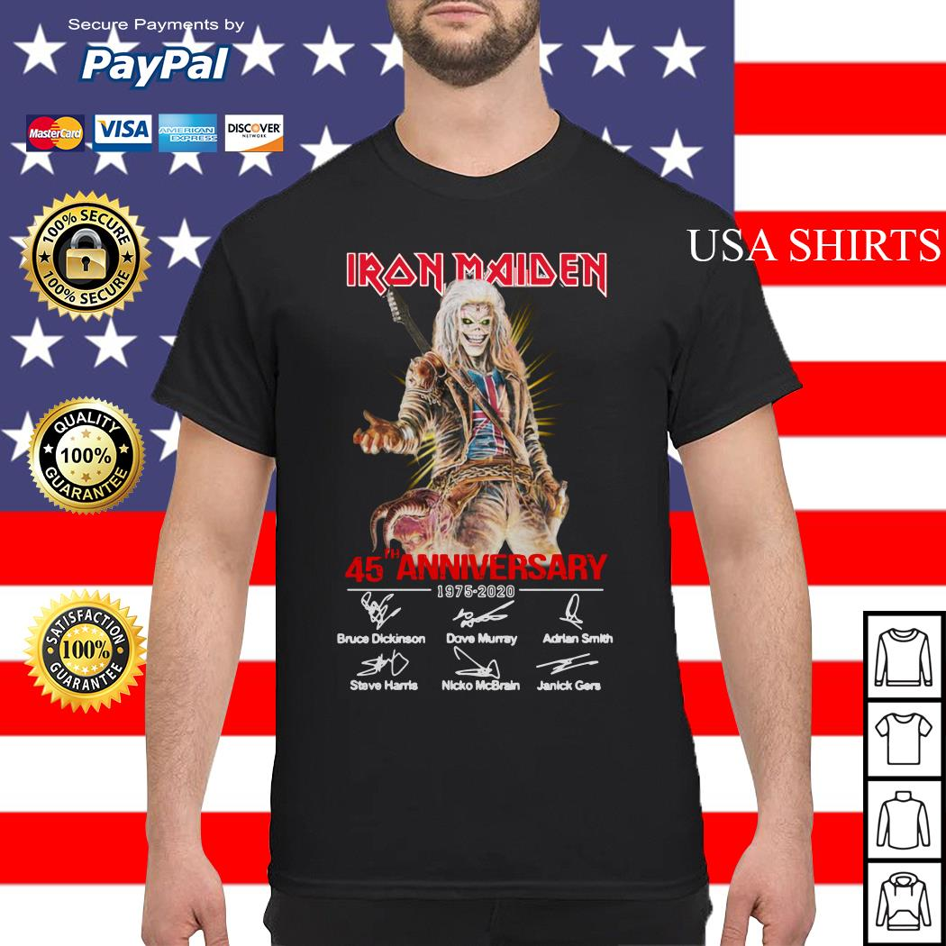Iron Maiden 45th Anniversary 1975 2020 signature shirt