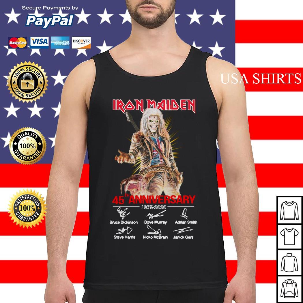 Iron Maiden 45th Anniversary 1975 2020 signature Tank top