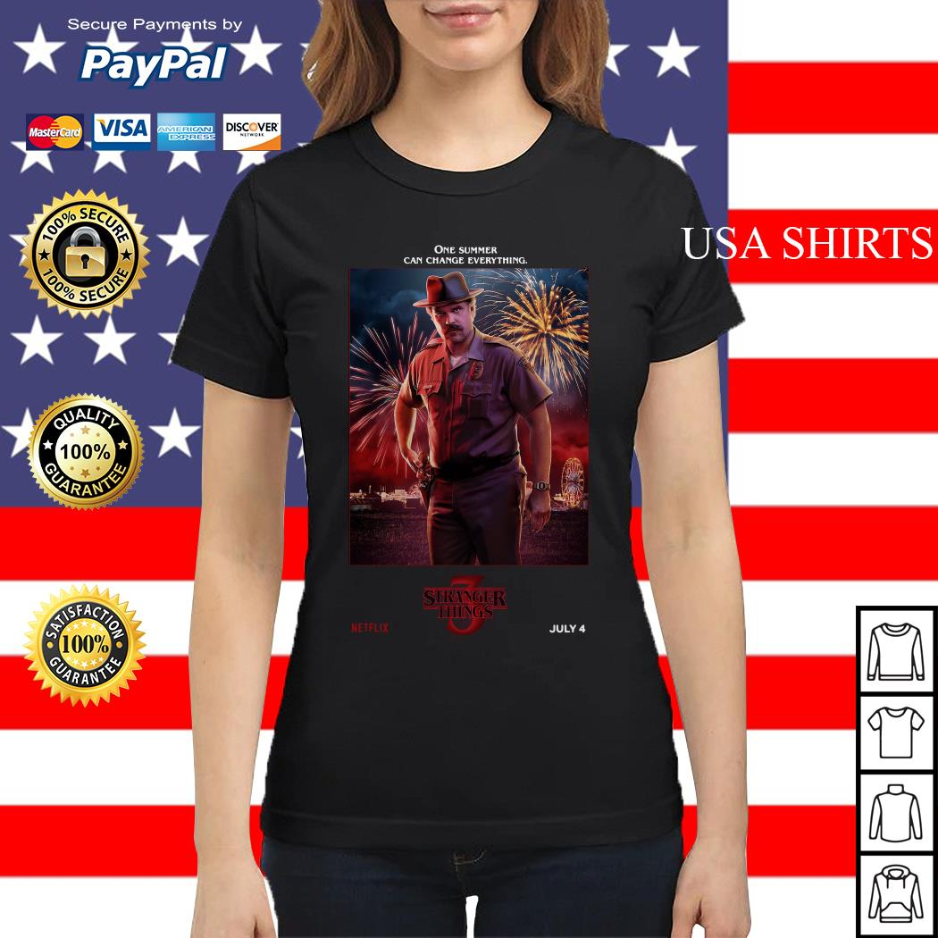 Jim Hopper One Summer Can Change Everything Stranger Things Ladies tee