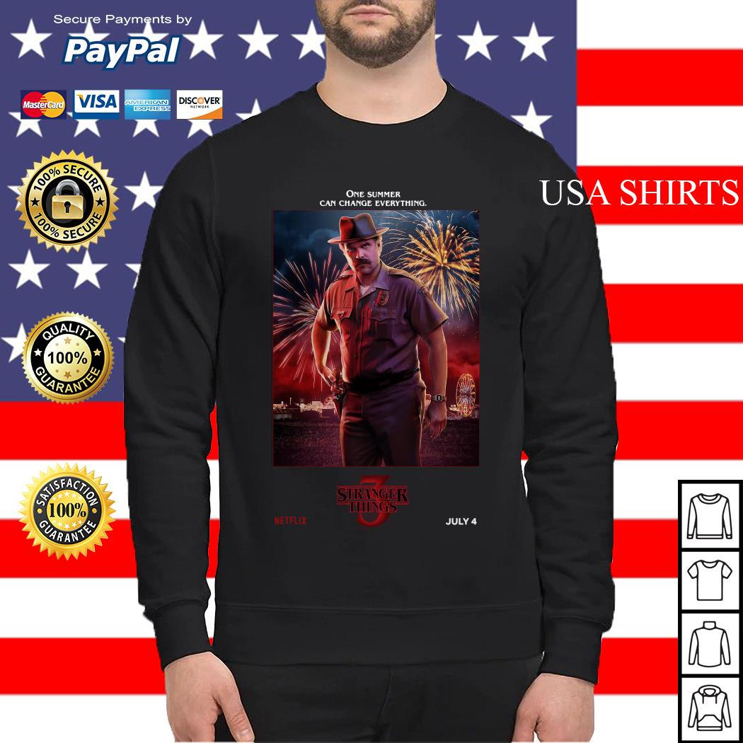 Jim Hopper One Summer Can Change Everything Stranger Things Sweater