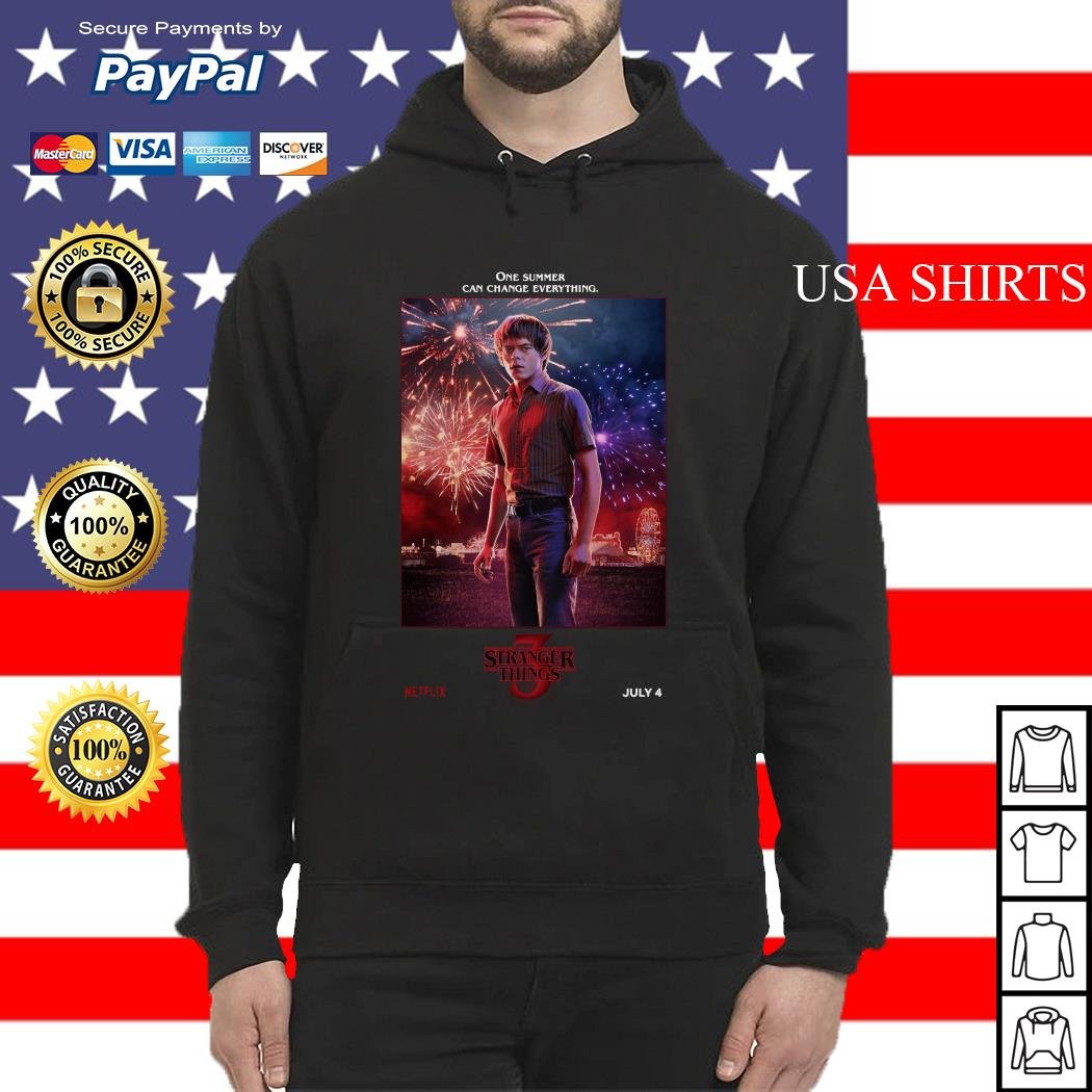 Jonathan Byers One Summer Can Change Everything Stranger Things Hoodie
